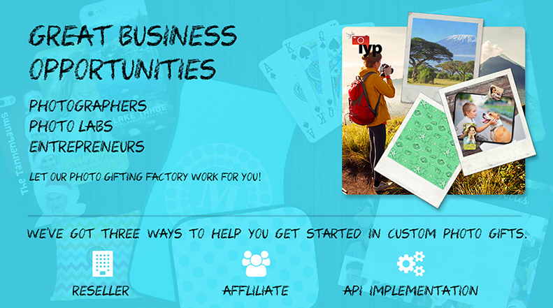 Great Business Opportunities - Photographers, Photo Labs, Entrepreneurs